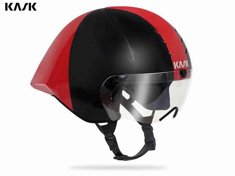 (送料無料)【KASK】(カスク)MISTRAL <ブラック/レッド> TTヘルメット(自転車)8057099118705