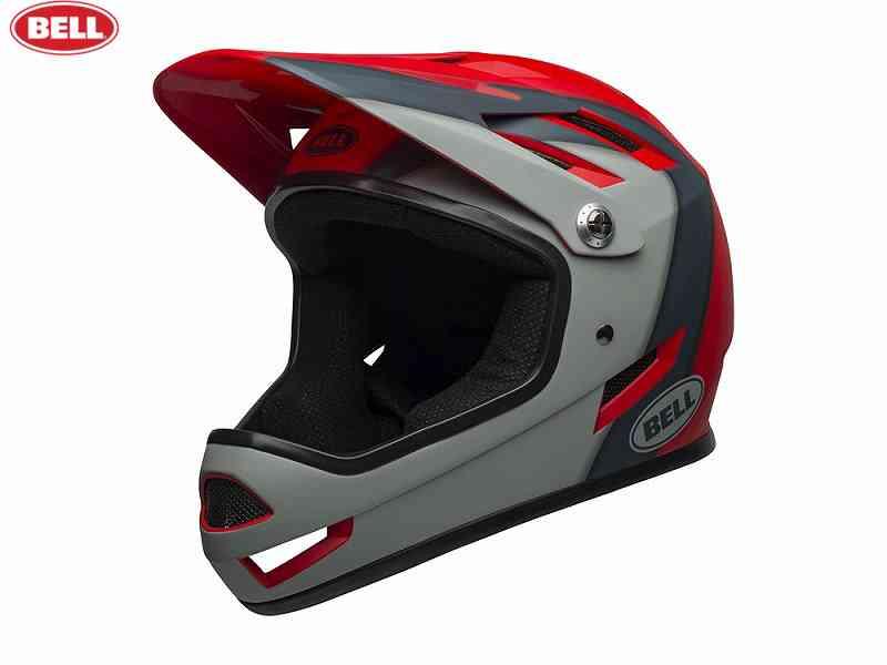 (送料無料)【BELL】(ベル)SANCTION(サンクション) <マットクリムゾン/スレート/グレー> MTBフルフェイスヘルメット BMX用(自転車)0768686161155