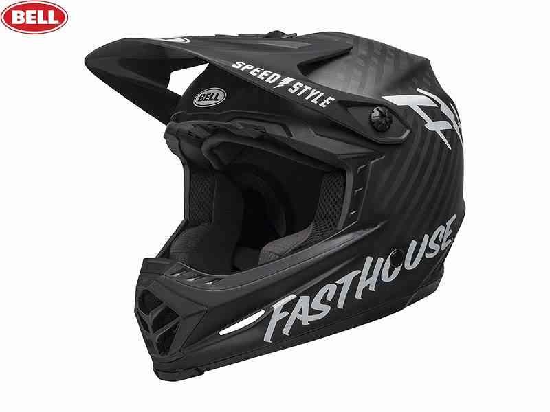 (送料無料)【BELL】(ベル)FULL9(フルナイン) <マットブラック/ホワイト ファストハウス> MTBフルフェイスヘルメット DH/BMX用(自転車)0768686209253