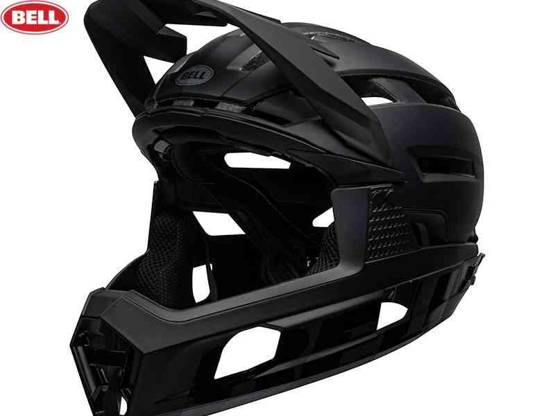 (送料無料)【BELL】(ベル)SUPER AIR R MIPS(スーパーエア R ミップス) <ブラック> コンバーチブルフルフェイスヘルメット(自転車)