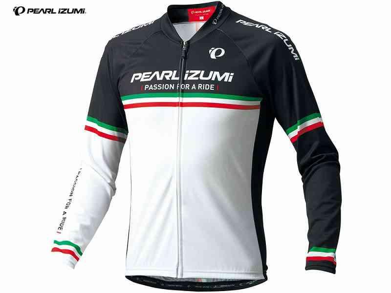 (送料無料)【PEARLIZUMI】 (パールイズミ)623-BL プリントロングスリーブジャージ <34 パールボーダー>(17)【長袖ジャージ】(自転車 ウェア)