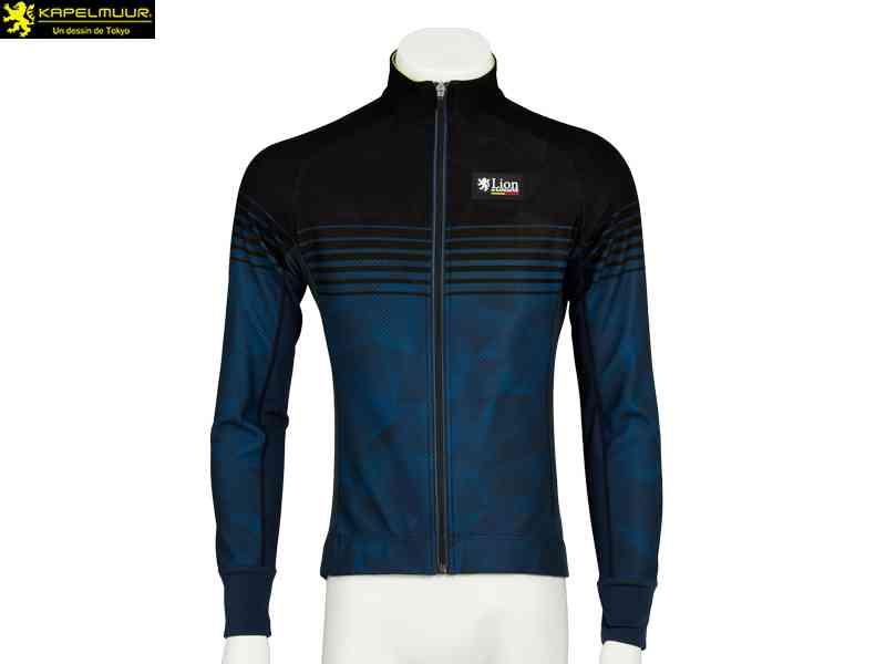 (送料無料)【LION DE KAPELMUUR】(リオン・ド・カペルミュール)コンペティションジャケットEVO スピードライン{ブラックxネイビー}lijk016(自転車 ウェア)4589435659268