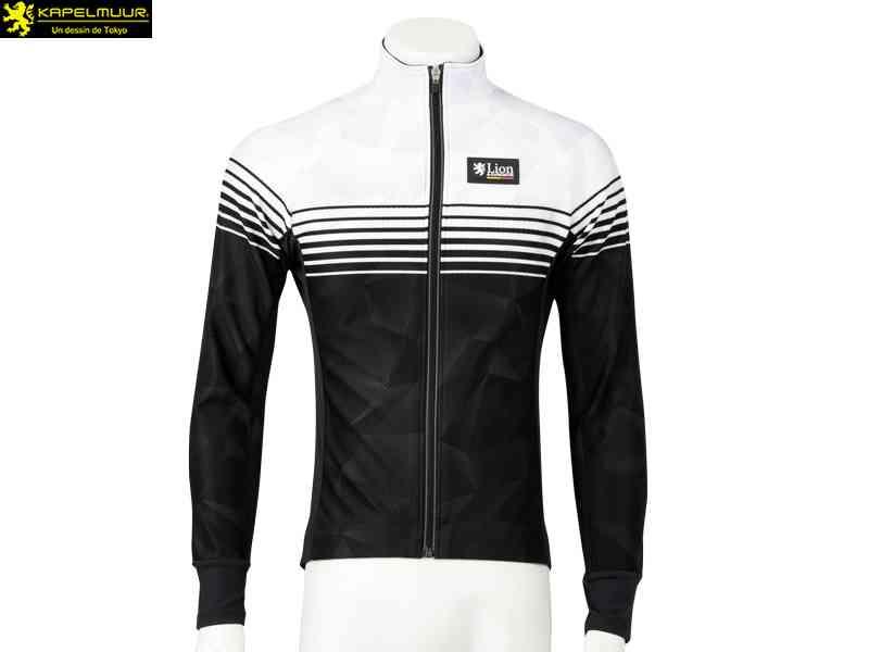 (送料無料)【LION DE KAPELMUUR】(リオン・ド・カペルミュール)コンペティションジャケットEVO スピードライン{ホワイトxブラック}lijk017(自転車 ウェア)4589435659206