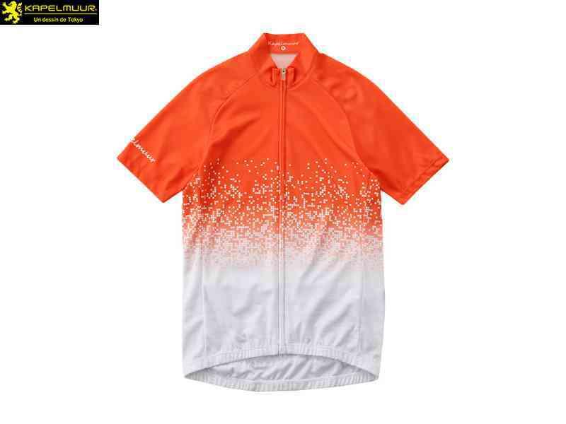 (送料無料)【KAPELMUUR】(カペルミュール)半袖ジャージ ピクセルシャワー オレンジ kphs135(自転車 ウェア) 4589435671956