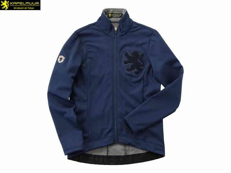 (送料無料)【KAPELMUUR】(カペルミュール)Ladies ウインドシールドジャケット サガラ刺繍 ネイビー kpjk104(自転車)