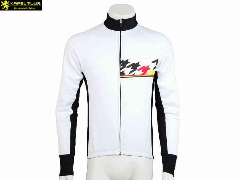 (送料無料)【LION DE KAPELMUUR】(リオン・ド・カペルミュール)レーシングサーモジャケット ビッグチドリ ホワイト lijk036(自転車)