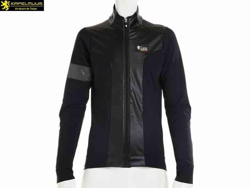 (送料無料)【LION DE KAPELMUUR】(リオン・ド・カペルミュール)Ladies Polartec プレミアムジャケット グロスカーボン lijk082(自転車)