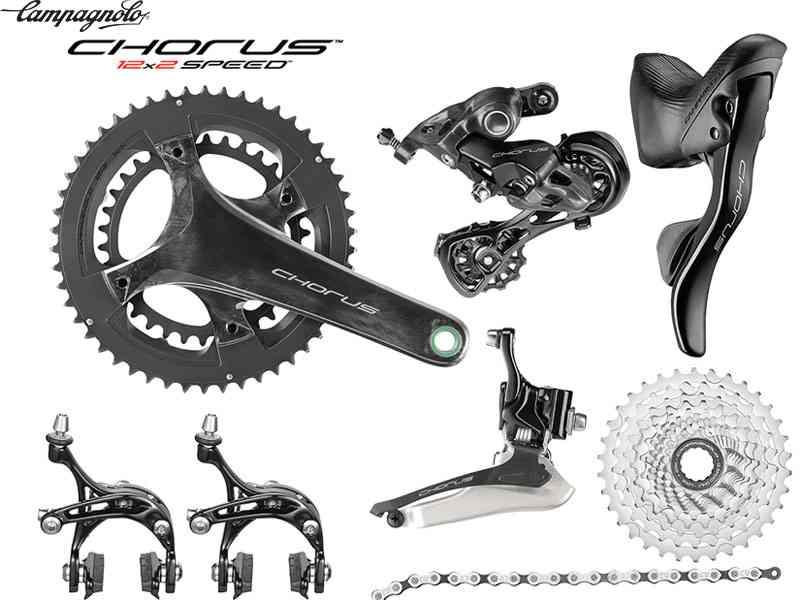 (送料無料)【CAMPAGNOLO】(カンパニョーロ)CHORUS 12S 機械式コンポセット(2x12s)(自転車)