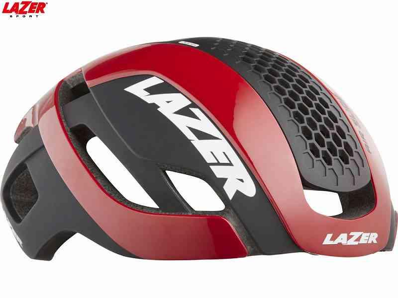 (送料無料)【LAZER】(レイザー)BULLET2.0 AF+LENS+LED(バレット2.0 アジアンフィット+レンズ+LED) <レッド> ロードヘルメット【心拍センサーライフビーム付き】限定セット(自転車)