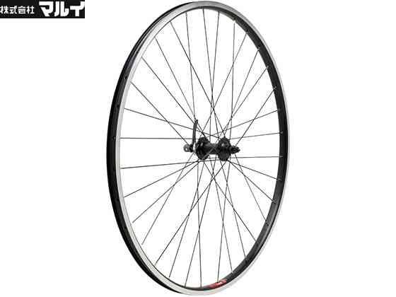 【MARUI】(マルイ)TX733/RM35 クロス フロントホイール700C(ブラックスポーク)WLF05501(自転車)4582326461810