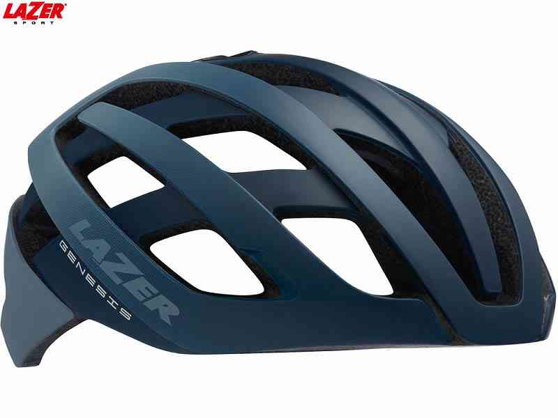 (送料無料)【LAZER】(レイザー)GENESIS AF(ジェネシス アジアンフィット) <マットブルー/グレー> ロードヘルメット(自転車)