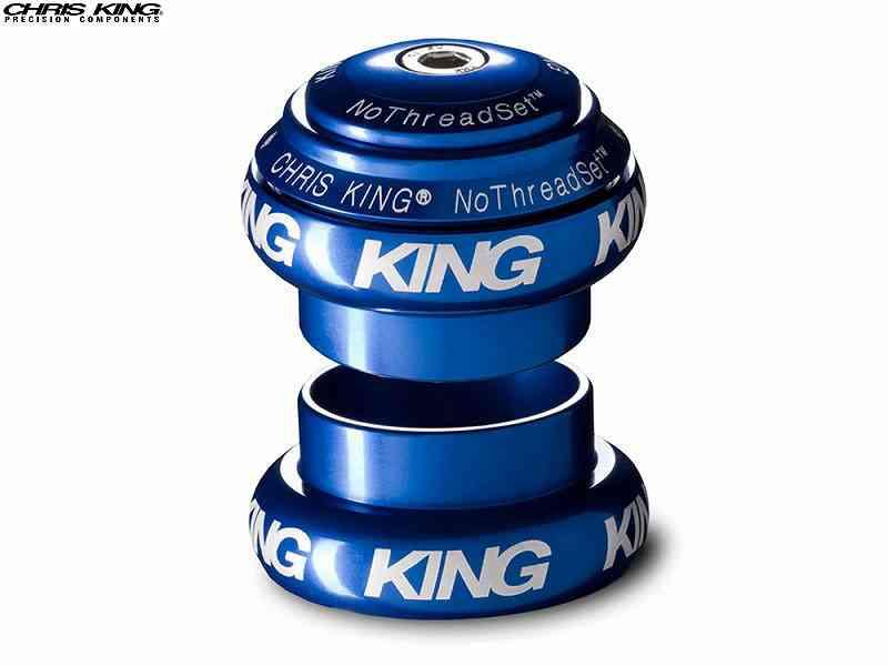 """(送料無料)【CHRIS KING】(クリスキング)NOTHREADSET(NTS)1-1/8"""" ヘッドセット NAVY BOLD(白ロゴ)(自転車)2006462250012"""