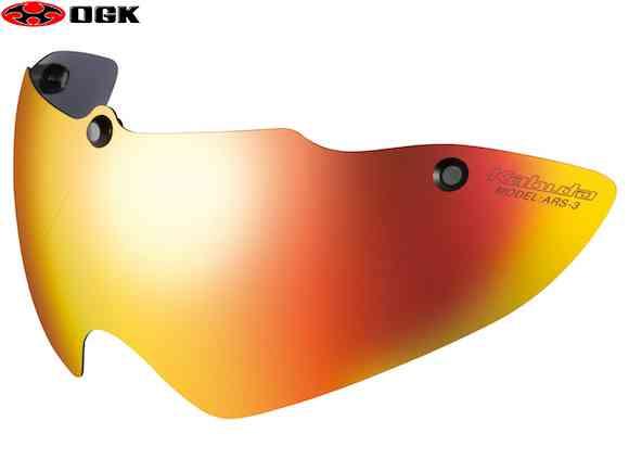 【OGK】(オージーケー)ARS-3 ゴールドミラー シールド(AERO-R1用)【自転車 アクセサリー】4966094578121