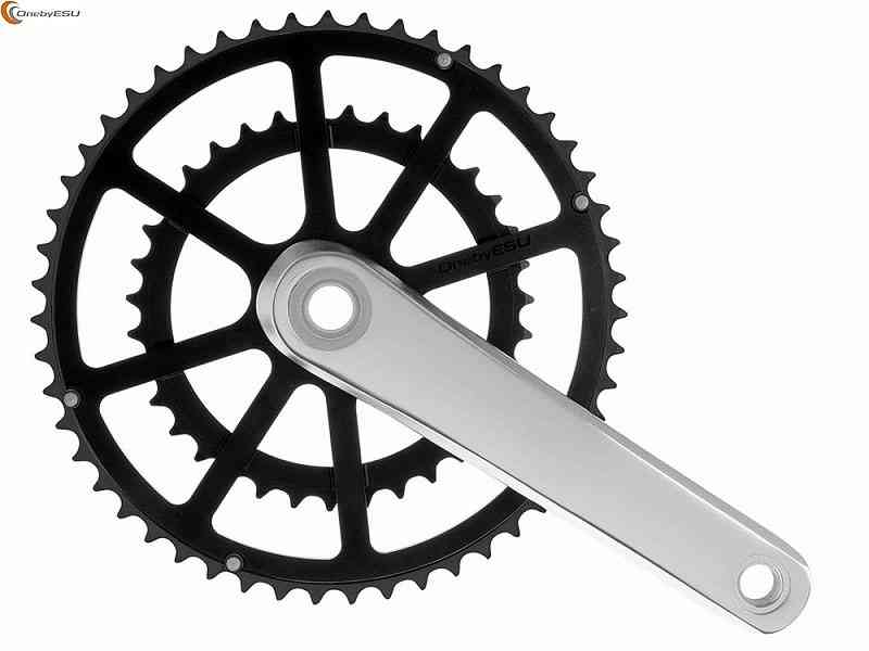 (送料無料)【ONEBYESU】(ワンバイエス)ジェイ・クランク【シルバー/ブラック】47/31T チェンホイールセット(自転車) 4948107273292