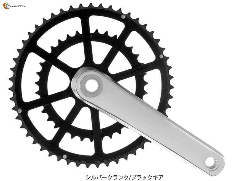 (送料無料)【ONEBYESU】(ワンバイエス)ジェイ 4948107273094・クランク【シルバー/ブラック】49/33T チェンホイールセット(自転車) 4948107273094, 蒲原町:b9347998 --- vampireforum.net