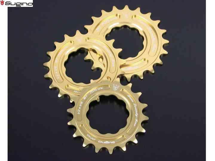 【SUGINO】(スギノ)FIXIE 75 スプロケット ゴールド【スプロケット】【自転車 パーツ】