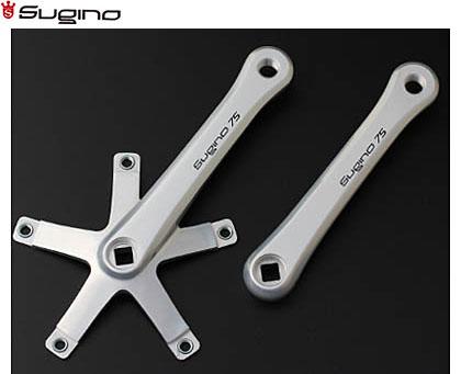 (送料無料)【SUGINO】(スギノ)SG75 144クランク(NJS認定)【クランク】(自転車)