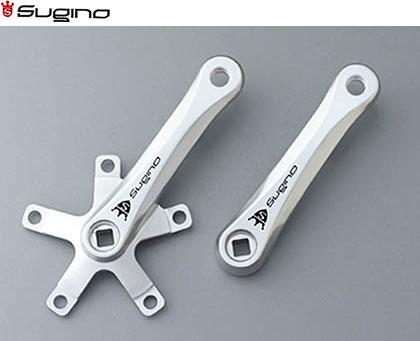 (送料無料)【SUGINO】(スギノ)MIGHTY MIGNON クランク シルバー【クランク】(自転車)