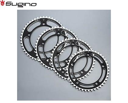 【SUGINO】(スギノ)MC130NC チェーンリング ブラック(45/46/47/48T)(チェーンリング)(自転車)