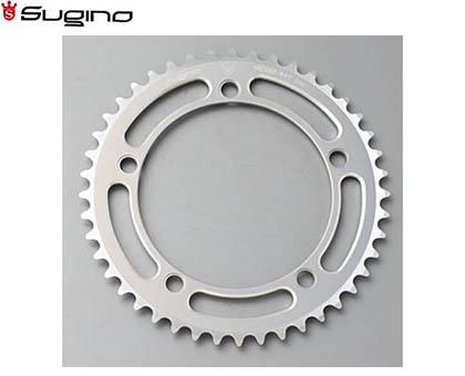 【SUGINO】(スギノ)MC130NC チェーンリング シルバー(45/46/47/48T)(チェーンリング)(自転車)