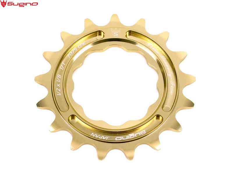 【SUGINO】(スギノ)FIXIE 75 スプロケット ゴールド(自転車)