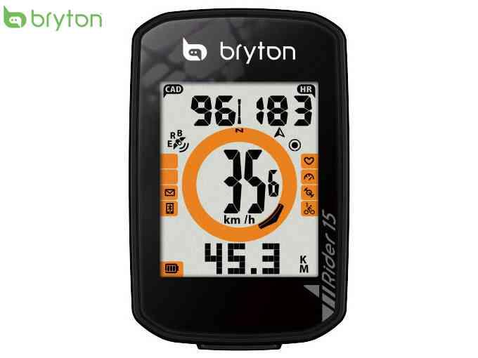 (送料無料)【bryton】(ブライトン)RIDER 15C (ライダー15C) GPSサイクルコンピューター(ケイデンスセンサー付)(自転車)4718251592705