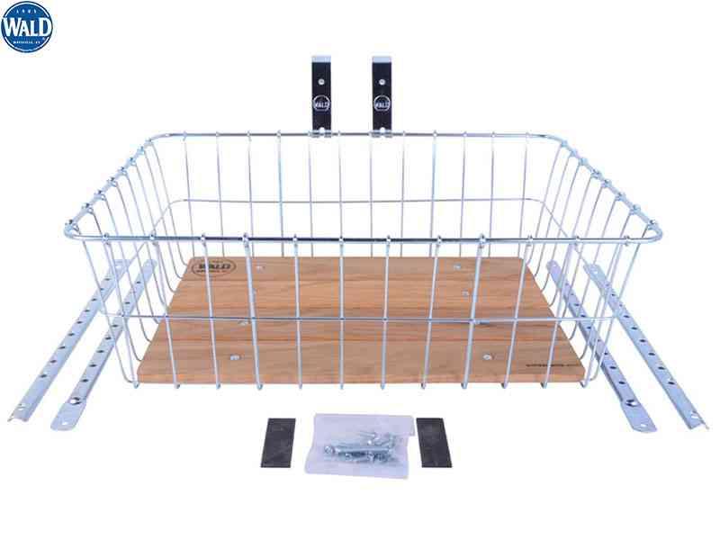 (送料無料)【WALD】(ウォルド)1392WW ウッド フロントバスケット(アジャスタブルステー付)(自転車) 0046307139265