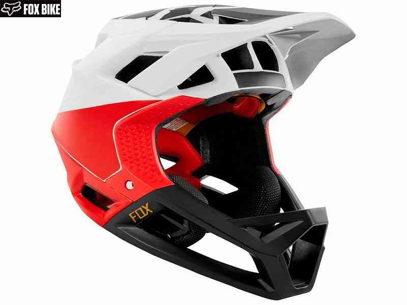 (送料無料)【FOX】(フォックス)PROFRAME<ピストルホワイト/ブラック/レッド>ヘルメット(MIPS)23403(自転車) 0191972200311