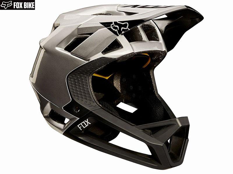 (送料無料)【FOX】(フォックス)PROFRAME MOTH<ブラック/シルバー>ヘルメット(MIPS)18609(自転車)