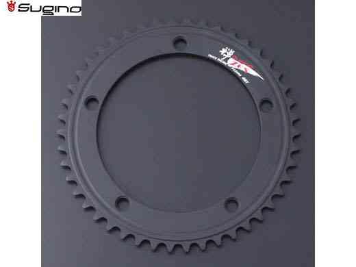 (送料無料)【SUGINO】(スギノ)ZEN 144 チェーンリング ブラック (51/52T)(チェーンリング)(自転車)