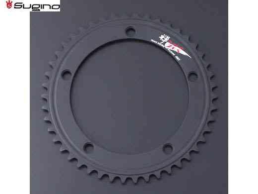 (送料無料)【SUGINO】(スギノ)ZEN 144 チェーンリング ブラック (49/50T)(チェーンリング)(自転車)