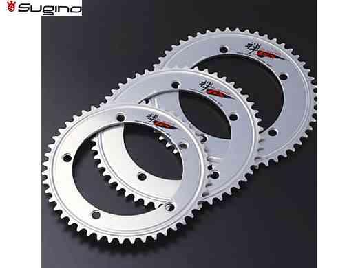 【送料無料】【SUGINO】(スギノ)ZEN 144 チェーンリング シルバー (44/45/46T) NJS認定【チェーンリング】【自転車 パーツ】