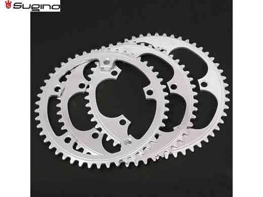 【SUGINO】(スギノ)SSG144 チェーンリング シルバー (44/45/46T) NJS認定(チェーンリング)(自転車) SSG-144