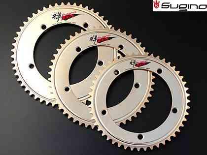 (送料無料)【SUGINO】(スギノ)スーパーZEN 144チェーンリング(51T/52T)(チェーンリング)(自転車)