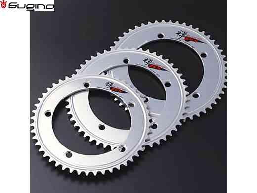 (送料無料)【SUGINO】(スギノ)ZEN 144 チェーンリング シルバー (55/56T) NJS認定(チェーンリング)(自転車)