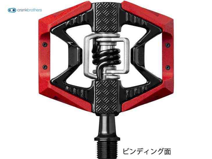 (送料無料)【CRANKBROTHERS】(クランクブラザーズ) ダブルショット 3 ペダル <レッド/ブラック>【ペダル】(自転車)