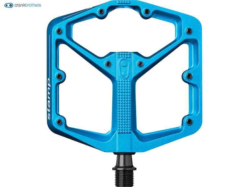 (送料無料)【CRANKBROTHERS】(クランクブラザーズ) STAMP3 LARGE(スタンプ3 ラージ)<ブルー> ぺダル(自転車)0641300616036