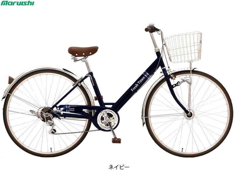 ※送料を節約できる営業所止めや店頭受取も可能です 詳しくはお問合せ下さい MARUISHI 丸石サイクル 2020秋冬新作 フレッシュタウン セール開催中最短即日発送 V型 代引き不可 FVRP276CTW 日時指定 自転車 27インチ6段