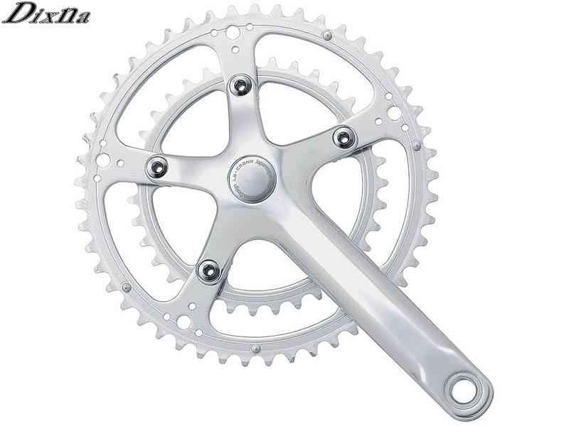 (送料無料)【DIXNA】(ディズナ)ラ・クランクセット 49/35T(9/10s)BBなし シルバー(自転車)4948107272110