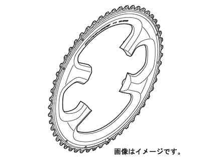 【SHIMANO】(シマノ)DURA-ACE チェーンリング 54T-ME(54x42T) FC-9000用【ギヤ板】(自転車)(Y1N298130) FC9000