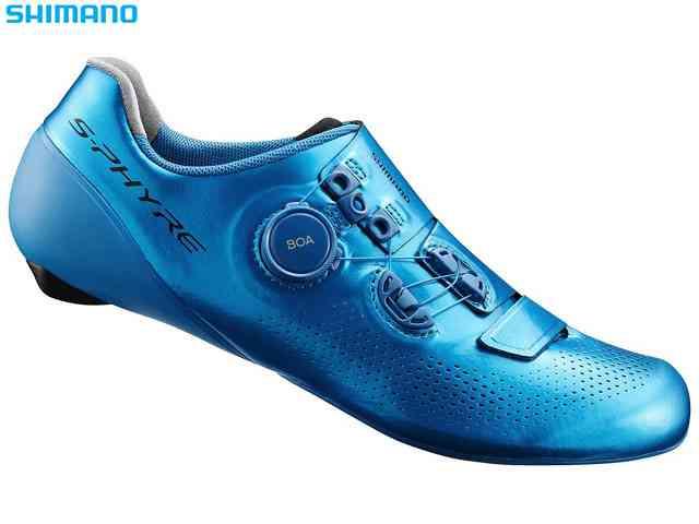 (送料無料)【SHIMANO】(シマノ)RC9T(SH-RC901T)ブルー ロードシューズ(自転車)