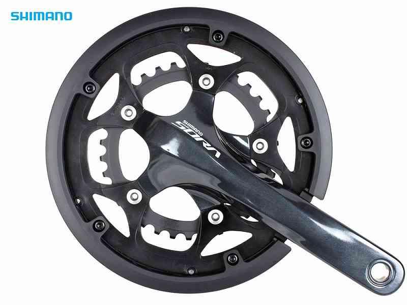【SHIMANO】(シマノ)SORA FC-R3000 50x34T 9s チェーンガード付 5アームデザイン(BB別売)(自転車)
