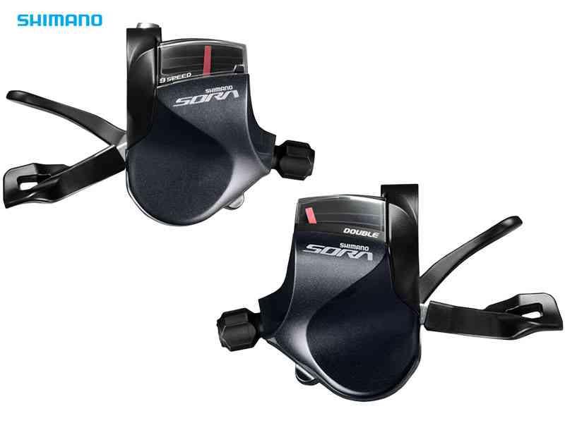 【SHIMANO】(シマノ)SORA SL-R3000 左右レバーセット 2x9s(ブラックシフトケーブル付)(自転車) 4524667416081