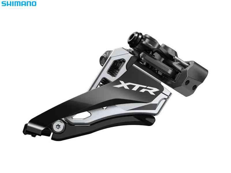 (送料無料)【SHIMANO】(シマノ)XTR FD-M9100-M ミドルポジションバンドタイプφ34.9mm(31.8/28.6mmアダプタ付) サイドスイング 2x12s【フロントディレーラー】(自転車)4524667982715