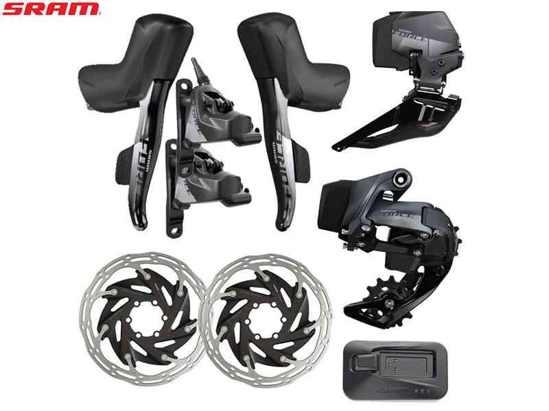 【ご予約商品】(送料無料)【SRAM】(スラム)FORCE eTAP AXS(アクセス)HRD 2X DISCロードグループセット(2x12s)(自転車)
