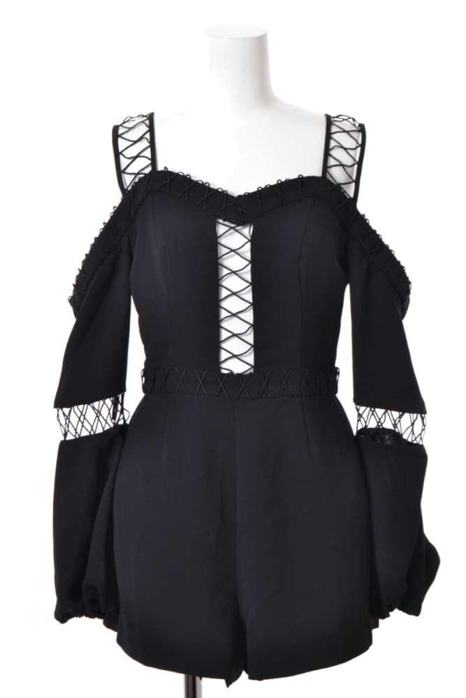 おしゃれ レディース ファインダーズキーパーズ ドレス 未使用 Finders Keepers プレイスーツ S 中古 ブラック ボーダーライン 当店一番人気