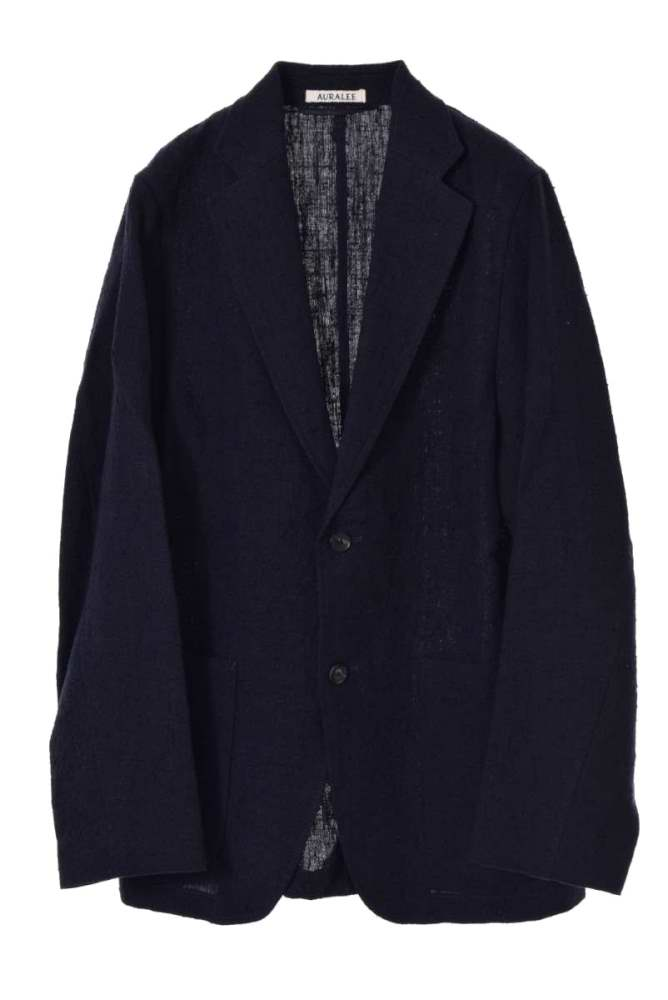 誠実 AURALEE リネン ツイードジャケット - ブラック オーラリー 【】, アイリーショップ a4bd11e0
