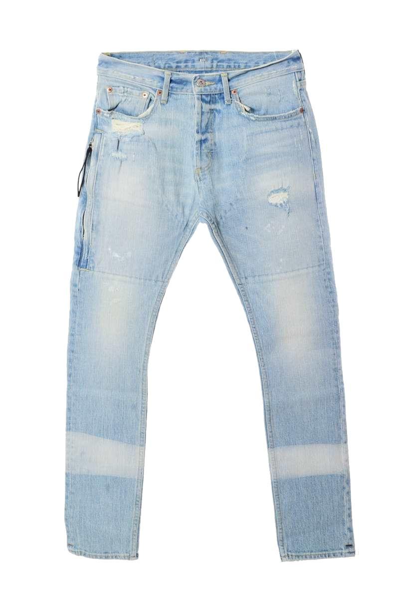メンズ お得 お気にいる ミスターコンプリートリー デニムパンツ 通年 未使用 MR.COMPLETELY 中古 EMIRATE デニム ブルー 29 ジップポケット