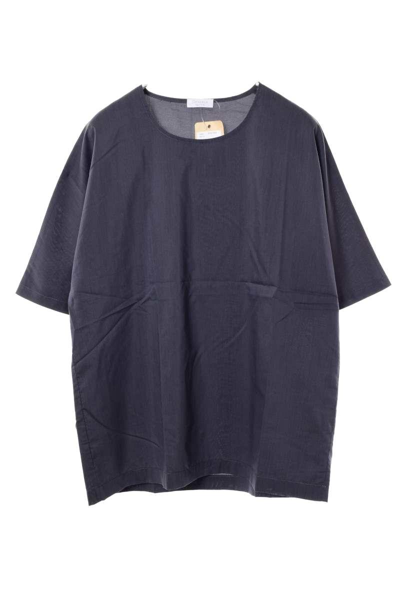 メンズ 限定タイムセール デヴォー Tシャツ カットソー 春夏 未使用 DEVEAUX チャコールグレー 1 ついに入荷 プルオーバー シルクコットン 中古 トップス