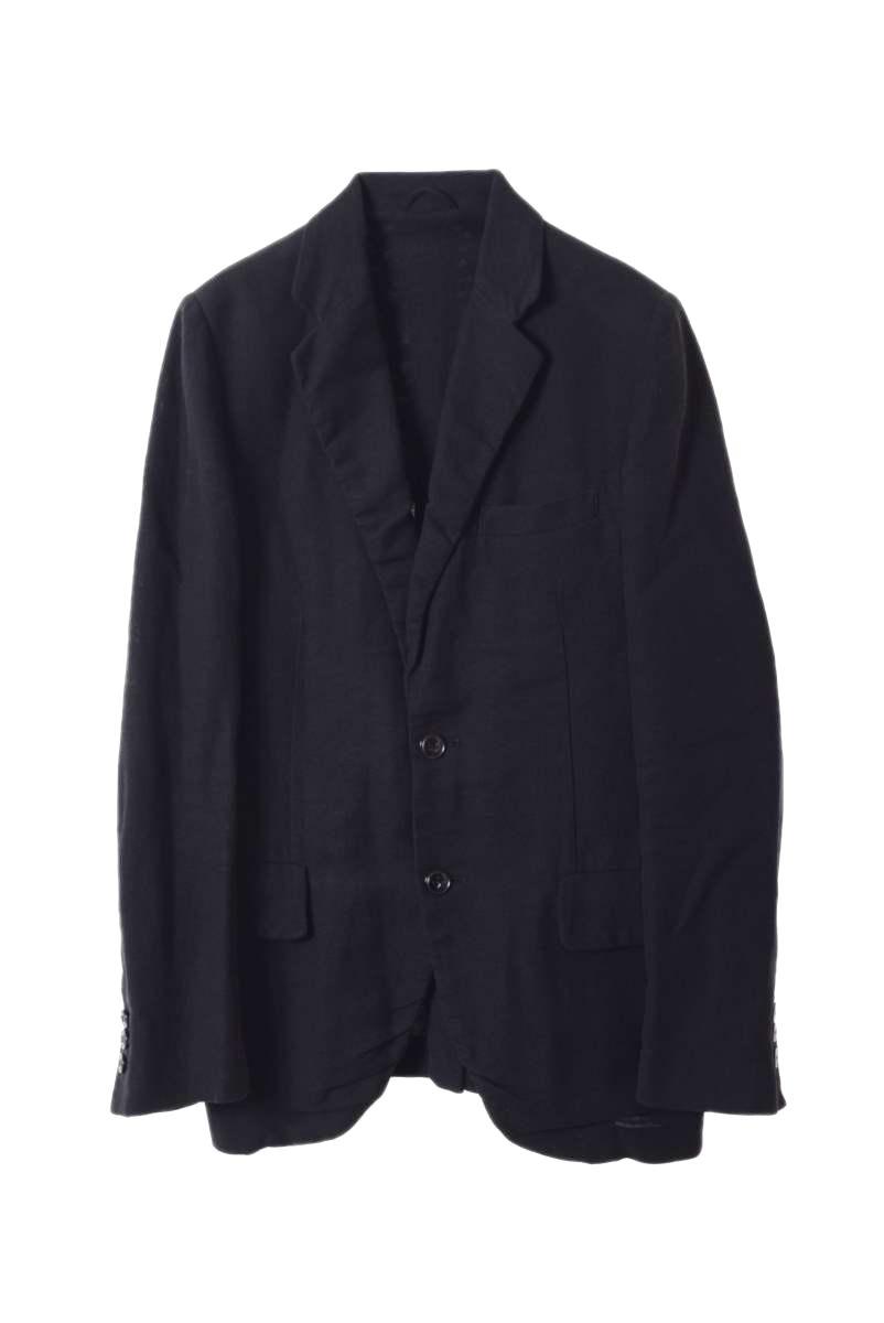 メンズ ケミット テーラードジャケット 送料無料でお届けします kemit 2B 46 ブラック 超人気 リネン混 中古